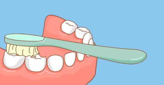 咬合区刷牙